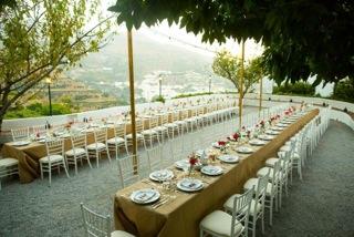 Marbella Weddings - Table set up 3