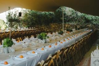 Marbella Weddings - Table set up 1