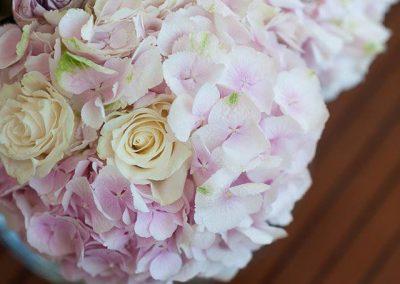 pink wedding flowers Spain