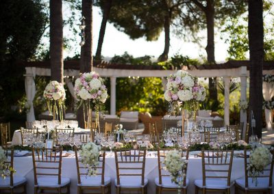 pink and gold wedding spain