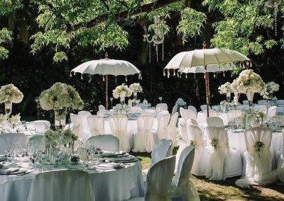 white glamorous wedding Spain